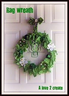 St. Patty's day wreath.