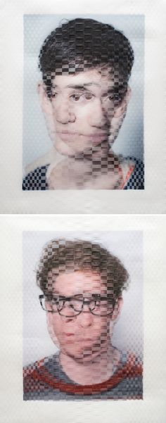 david samuel stern - weaved photographs