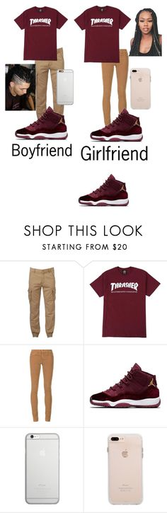 """""""Boyfriend and girlfriend outfit"""" by rihababy on Polyvore featuring Hollywood the Jean People, AG Adriano Goldschmied and Native Union"""