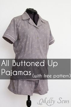Ladies Pajama Top Pattern - sew a pajama top with this sewing pattern