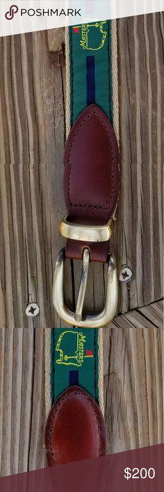 Vintage Masters Belt Size 38/95  Belt is in excellent condition.    No sign of wear or age.  This belt had an initial retail price of $165.00...  & it's current value may exceed $200.00.   Offers are welcome. Smathers & Branson Accessories Belts