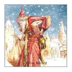 Old Father Christmas - Seasons Greetings - Folklore and Fairy Tale Greetings Card