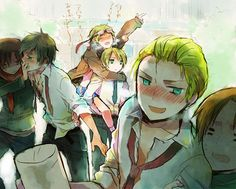 Spain, Romano, England, America, Germany, Italy. These are all my hetalia ships put into one magnificent picture cx