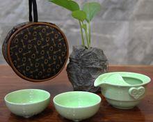 Chá viagem de chá * 2 jogo de chá rápida e fácil de cerâmica conjunto de chá(China (Mainland))