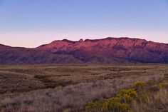 """Sandia Mountains. Sandia in Spanish means """"watermelon"""". Our Mountains turn a beautiful pink watermelon color at sunset."""