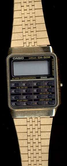 Casio CA-951 1982 calc watch w/ 4 alarms, 2 melodies. Casio J-100 aka the Coach, the Jogging Computer, the Pace Runner, 1981 runner's calc watch with speed, distance, etc. Casio CD-40 Casio's first...