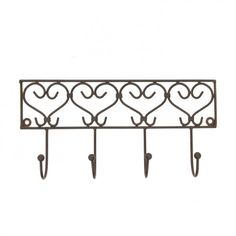 Hanging heart tea towel holder in wrought iron will add a french country touch. Country Kitchen Accessories, Iron Work, Hanging Hearts, French Country Style, Towel Holder, Tea Towels, Wrought Iron, Iron Decor, Projects