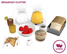 Aleesha | Breakfast ClutterHey guys! So here's my first set of objects I'm uploading since I cleaned my blog out. I promise I'm still working on fixing the links on my old downloads so they're...
