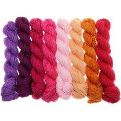 Fifties Gradient - Farbpalette Lachs bis Violett