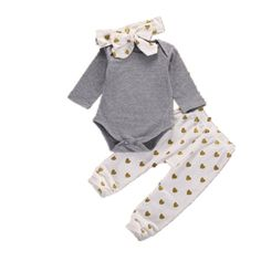 eec4648445cfb FEITONG Newborn Baby Boys Girls Bear Tops Romper Pants Outfits Clothes  White ** You can find more details by visiting the image link.