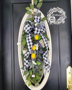 Autumn Wreaths, Spring Wreaths, Summer Wreath, Wreaths For Front Door, Door Wreaths, Grapevine Wreath, Lemon Wreath, Door Swag, Ribbon Colors