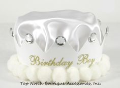 Boys White Birthday Crown