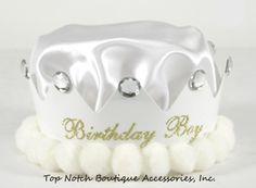 Boys White Birthday Crown