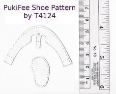 https://flic.kr/p/7eybKw | PukiFee Shoe Pattern | I'm not sure how to print these at the correct size, but hopefully the ruler will help. ^^;