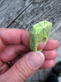 Polymer Clay Ring by Lynn_EL/UnaOdd, via Flickr
