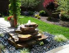 3 pot waterfall Fountains and ponds Pinterest Fountain