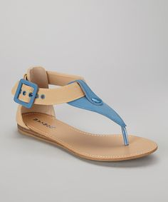 Take a look at this Turquoise Steno-73 Sandal by Shop the Look: Backyard Barbecue on @zulily today!