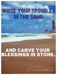 Carve your blessings in stone