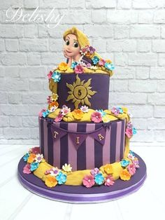 Disney princess cakes with Rapunzel