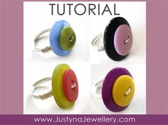 Button Ring Tutorial Button Jewelry Tutorial by JustynaJewellery,