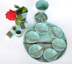 Bring the colors of Israel to your Seder Table....  https://www.etsy.com/shop/ClayismyArt