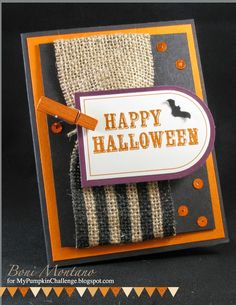My Pumpkin Challenge - SU - Sept 2014 Kit - Boo-tiful Bags