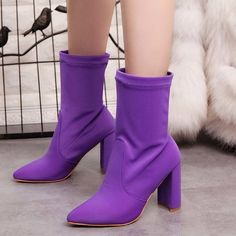 Platform Ankle Boots Women Boots High Heels Purple sold by Sunflower World. Shop more products from Sunflower World on Storenvy, the home of independent small businesses all over the world.