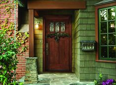 Stylish Front Door Design With Black Colors Also Six Glass Lites ...