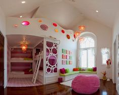 20 Secret Room Ideas You Wanted Since Childhood | IDEAs for a very awesome Girl's room.  Especially when she has a slumber party.