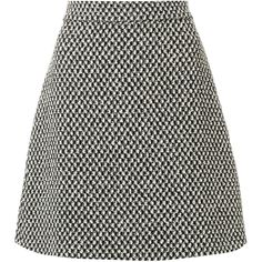 Gucci tweed A-line skirt (49.925 RUB) ❤ liked on Polyvore featuring skirts, black, tweed skirt, short tweed skirt, knee length a line skirt, short a line skirt and a line skirt