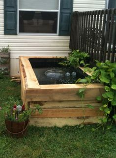 How to build an deck top pond in 4 easy steps diy for Wooden pond ideas