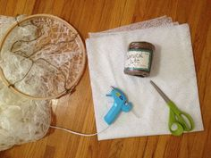 how to make a lace canopy.