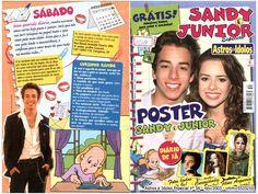 Sandy e Junior no Astros e Ídolos n° 54 (nov/2003) ~ Fã Clube Sandy & Junior Uma Historia de Amor (Era Uma Vez)