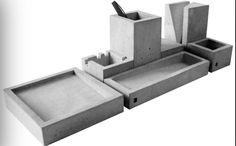Comcrete desk accessories