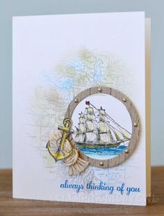 SUO - Open Sea Thinking of You by 1stampingnightowl - Cards and Paper Crafts at Splitcoaststampers