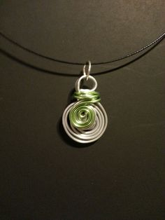 Colored aluminum pendant with 18 steel cable by MODJEWELRYDESIGNS, $24.00