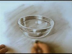 drawing glass - how to draw transparent objects - YouTube