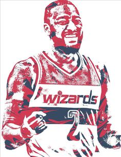 John Wall Washington Wizards Pixel Art 36 Art Print by Joe Hamilton. All prints are professionally printed, packaged, and shipped within 3 - 4 business days. Joe Hamilton, John Wall, Washington Wizards, Thing 1, 1 John, Basketball Players, All Art, Pixel Art, Captain America