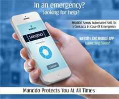 Manddo is here to protect you in all urgent medical conditions! The App sends automated SMS to 3 contacts in case of a medical emergency!! Stay tuned on this page to know when our breakthrough App & Website are launching!!