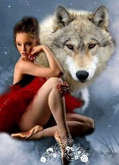 Wolves And Women, Wolf Spirit Animal, Native American Quotes, Fantasy Art Women, Wolf Wallpaper, Wolf Pictures, Portrait Art, Beauty And The Beast, Female Art