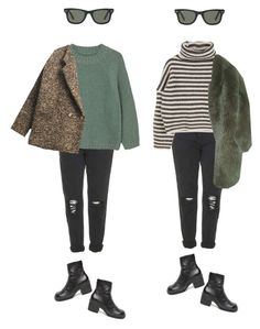 """""""cold"""" by erasmia-yasemi ❤ liked on Polyvore featuring Topshop, MANGO, Paul & Joe and Ray-Ban"""