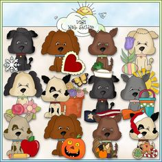 Calendar Dogs 1 - NE Cheryl Seslar Clip Art : Digi Web Studio, Clip Art, Printable Crafts & Digital Scrapbooking!