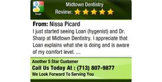 I just started seeing Loan (hygenist) and Dr. Sharp at Midtown Dentistry. I appreciate...