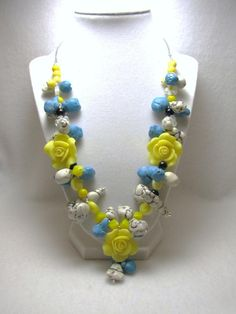 Yellow Rose of Texas - Jewelry creation by Linda Foust