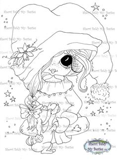 INSTANT DOWNLOAD Digi Stamps Big Eye Big Head Dolls Digi Bestie IMG479 By Sherri Baldy