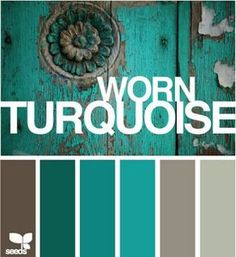 Turquoise & taupe