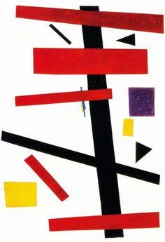 Ficha técnica Kasimir Malevich (1878 - 1935) Suprematismo Dinámico, 1915. Óleo sobre tela, 60 x 73 cm. Tate Gallery, Londres, Inglaterra.