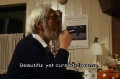 "21 Amazingly Profound Quotes From Hayao Miyazaki ""hermosos pero malditos sueños. Studio Ghibli Quotes, Studio Ghibli Art, Anime Couples Manga, Cute Anime Couples, Anime Girls, Hayao Miyazaki, Cowboy Bebop Anime, Profound Quotes, Quotable Quotes"