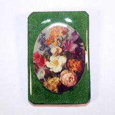 Wood Brooch Flower Print Wooden Brooch by OldAgeElegance on Etsy