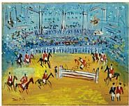 "Jean Dufy's beautiful ""Demonstration Equestre"""
